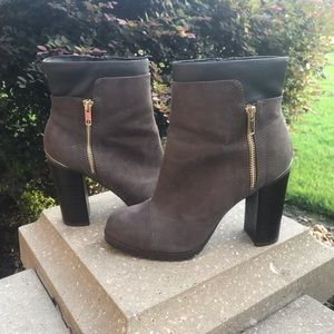Juicy Couture Grey Heeled Booties